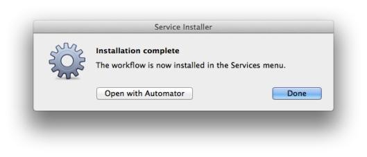 service installer complete