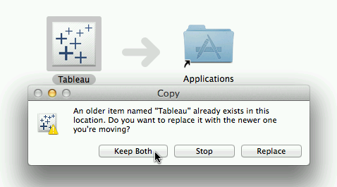 Open With Multiple Versions of Tableau Desktop on Mac OS X