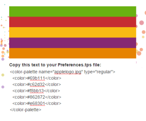 tabpal output